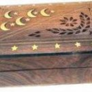 Moon Star Jewelry Box with Brass Inlay Two-piece Set