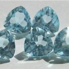 Natural Sky Blue Topaz AAA Quality 7 mm Faceted Trillion Shape Pair
