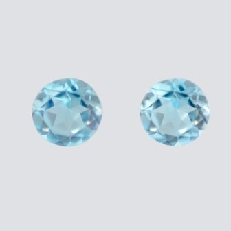 Natural Sky Blue Topaz AAA Quality 7 mm Faceted Round Shape 5pcs Lot Loose Gemstone