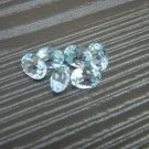 Certified Natural Sky Blue Topaz AAA Quality 4x3 mm Faceted Oval Shape 10 pcs Lot Loose Gemstone