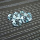 Certified Natural Sky Blue Topaz AAA Quality 7x5 mm Faceted Oval Shape 5 pcs Lot Loose Gemstone
