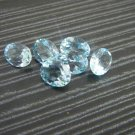 Certified Natural Sky Blue Topaz AAA Quality 8x6 mm Faceted Oval Shape 10 pcs Lot Loose Gemstone