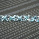 Certified Natural Sky Blue Topaz AAA Quality 8x6 mm Faceted Oval Shape 50 pcs Lot Loose Gemstone