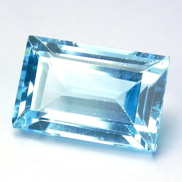 Certified Natural Sky Blue Topaz AAA Quality 6x4 mm Faceted Octagon Shape 50 pcs Lot Loose Gemstone