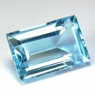 Certified Natural Sky Blue Topaz AAA Quality 8x6 mm Faceted Octagon Shape 10 pcs Lot Loose Gemstone