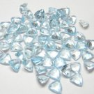 Certified Natural Sky Blue Topaz AAA Quality 4.5 mm Faceted Trillion Shape 50 pcs Lot Loose Gemstone