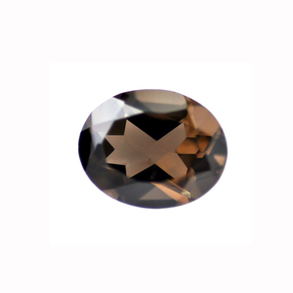 Certified Natural Smoky Quartz AAA Quality 12x10 mm Faceted Oval Shape 10 pcs Lot Loose Gemstoe