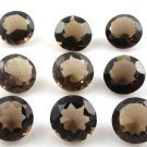 Certified Natural Smoky Quartz AAA Quality 7 mm Faceted Round Shape Pair Loose Gemstoe