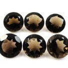 Certified Natural Smoky Quartz AAA Quality 9 mm Faceted Round Shape Pair Loose Gemstoe