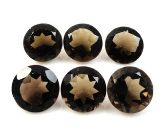 Certified Natural Smoky Quartz AAA Quality 9 mm Faceted Round Shape 10 pcs Lot Loose Gemstoe
