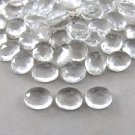 Certified Natural White Topaz AAA Quality 8x6 mm Faceted Oval Shape 25 pcs Lot Loose Gemstone
