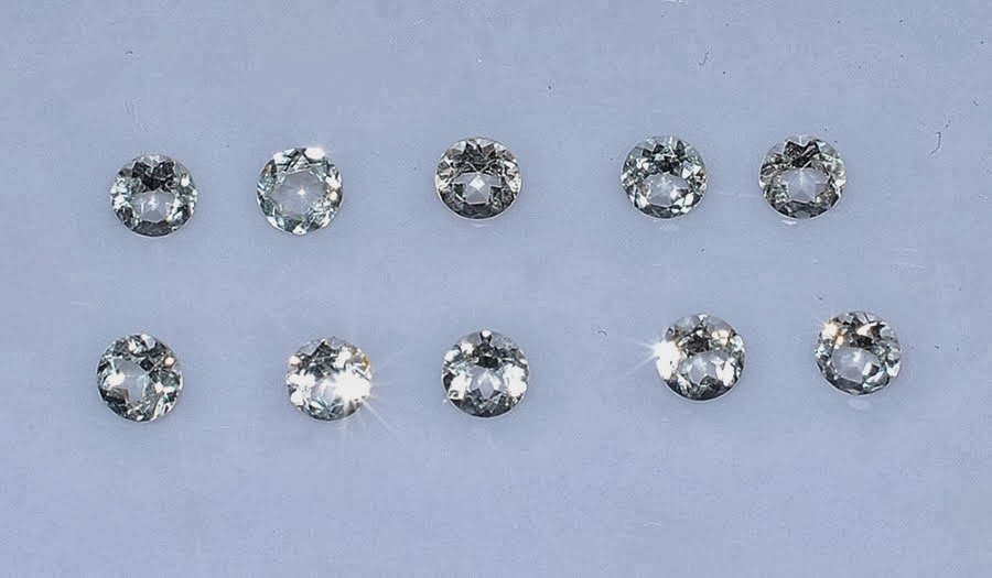 Certified Natural Zircon AAA Quality 1.25 mm Faceted Round Shape 25 pc Lot Loose Gemstone