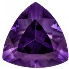 Certified Natural Amethyst AAA Quality 11 mm Faceted Trillion Shape 1 pc Loose Gemstone