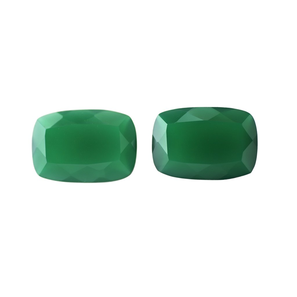 Certified Natural Green Onyx AAA Quality 9x7 mm Faceted Octagon Shape Pair Loose Gemstone