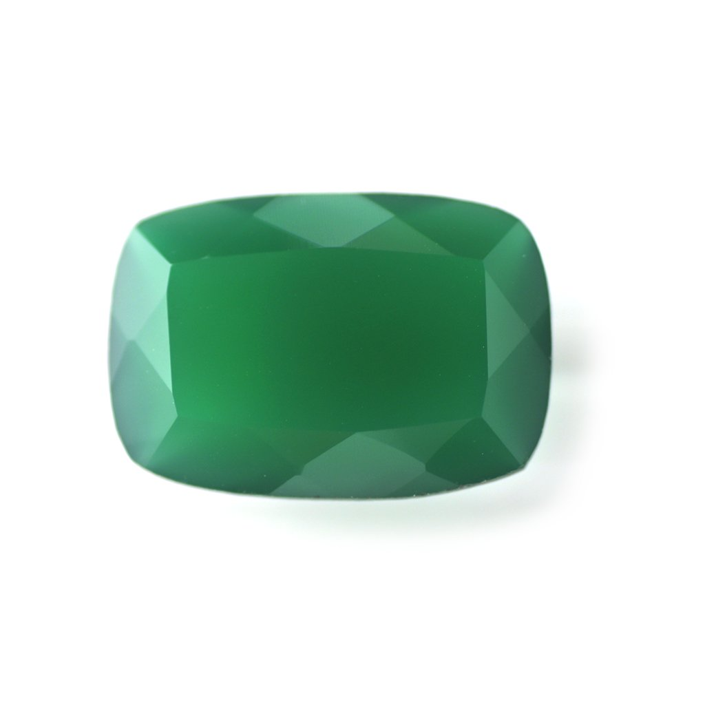 Certified Natural Green Onyx AAA Quality 16x12 mm Faceted Octagon Shape 1 pc Loose Gemstone