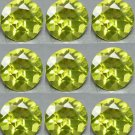 Certified Natural Peridot AAA Quality 1 mm Faceted Round Shape 50 pcs Lot Loose Gemstone