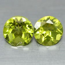 Certified Natural Peridot AAA Quality 1.25 mm Faceted Round Shape 25 pcs Lot Loose Gemstone