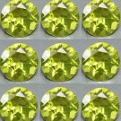 Certified Natural Peridot AAA Quality 1.25 mm Faceted Round Shape 50 pcs Lot Loose Gemstone