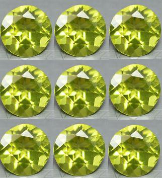 Certified Natural Peridot AAA Quality 2 mm Faceted Round Shape 100 pcs Lot Loose Gemstone