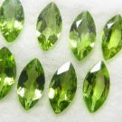 Certified Natural Peridot AAA Quality 7x3.5 mm Faceted Marquise Shape 10 pcs Lot Loose Gemstone