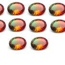 Certified Quartz Doublete Bi Color AAA Quality 10x8 mm Faceted Oval Shape 25 pcs lot Loose Gemstone