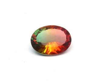 Certified Quartz Doublet Bi Color AAA Quality 18x13 mm Faceted Oval Shape 1 pc Loose Gemstone