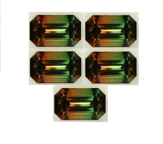 Certified Quartz Doublet Tri Color AAA Quality 18x13 mm Faceted Octagon Shape 5 pcs Lot Loose Gems