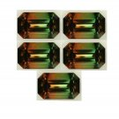 Certified Quartz Doublet Tri Color AAA Quality 20x15 mm Faceted Octagon Shape 5 pcs Lot