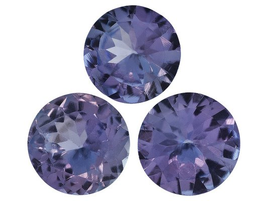 Certified Natural Tanzanite AA Quality 5 mm Faceted Round 5 pcs lot loose gemstone