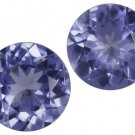 Certified Natural Tanzanite AA Quality 5 mm Faceted Round 10 pcs lot loose gemstone