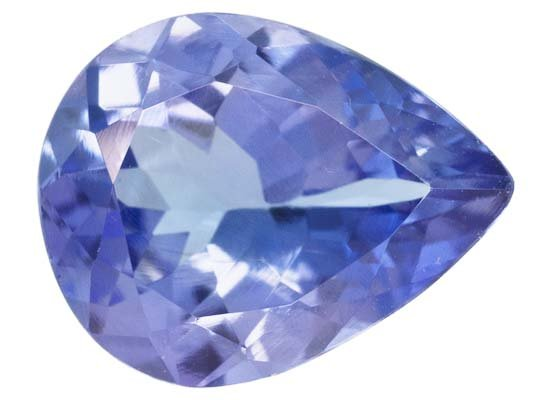 Certified Natural Tanzanite AA Quality 4x3 mm Faceted Pear 50 pcs lot loose gemstone