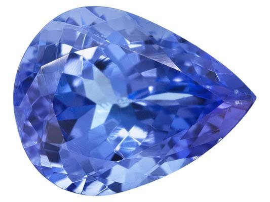 Certified Natural Tanzanite AA Quality 4x3 mm Faceted Pear 100 pcs lot loose gemstone