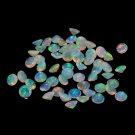 Certified Natural Ethiopian Opal AAA Quality 10x12 mm Faceted Oval 10 pcs Lot loose gemstone