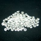 Heart And Arrow Cut White Cubic Zircon AAA Quality 1.25 mm Faceted Round 2000 pcs Lot loose gemston