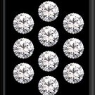 Heart And Arrow Cut White Cubic Zircon AAA Quality 2.4 mm Faceted Round 2000 pcs Lot loose gemston