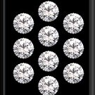 Heart And Arrow Cut White Cubic Zircon AAA Quality  5 mm Faceted Round 250 pcs Lot loose gemston