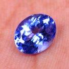 Wonderful 0.80 Ct Oval Shape Natural Tanzanite Violet Blue Certified HG 9369
