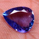 Natural Gigantic Tanzanite Violet Blue 1.82 Ct Pear Shape Free Certified HG 9010