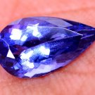 Awesome Pendent Natural Violet Blue Tanzanite 1.62 Ct Pear Cut Certified HG 8991