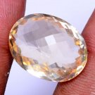 22.62 Ct Oval Shape Natural Yellow Citrine Checker Cut Free Certified*HG 9078