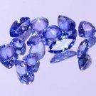 12 Pieces Natural Violet Blue Tanzanite 5.25 Ct Mix Shape Lot Certified HG 9216
