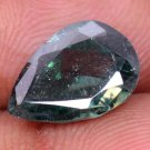 For Pendent 3.75 Ct Pear Shape Greenish Colour Moissanite With Certified HG 9163