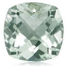 Certified Natural Green Amethyst AAA Quality 10 mm Faceted Cushion 10 pcs lot loose gemstone