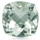 Certified Natural Green Amethyst AAA Quality 13 mm Faceted Cushion 10 pcs lot loose gemstone