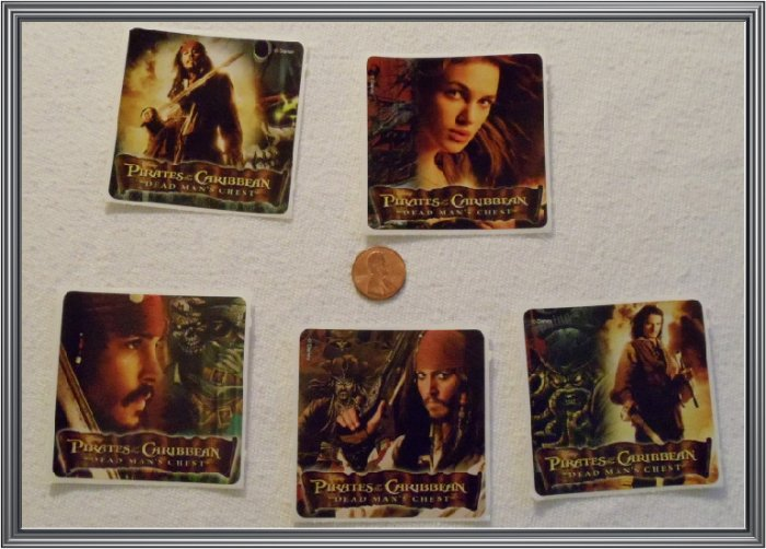 Noronha116 Scrapbook Stickers Squares Pirates Of The Carribean