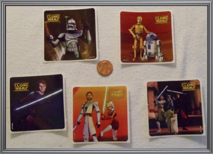 Noronha116 Scrapbook Stickers Squares Clone Wars