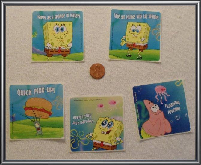 Noronha116 Scrapbook Stickers Squares Spongebob Squarepants