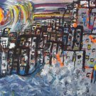 """""""Urban revival"""" 18 x 24 By Zach Berkowitz"""