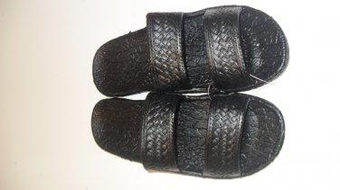Pali Hawaii Sandals PH405 SIZE 8 BLACK 1 Pair