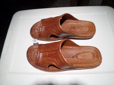 Pali Hawaii Sandal PH186 - SIZE 9 MENS-light brown-1 PAIR